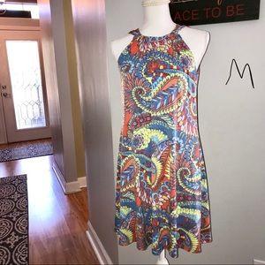 Ivy Lane Dresses - EUC Ivy Lane Paisley sleeveless high neck dress
